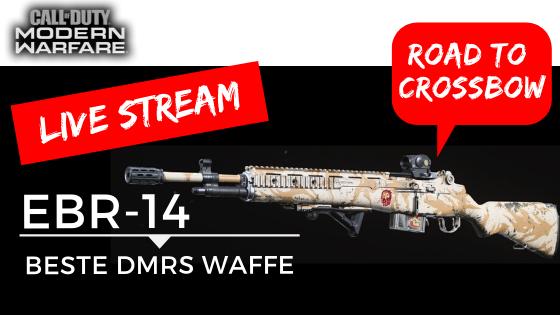 Call of Duty Modern Warfare LIVE GAMEPLAY EBR14 Road to Crossbow - JOMIWE GAMING