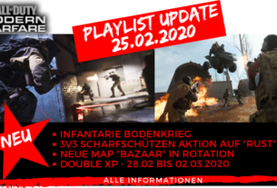 Call of Duty Modern Warfare Playlist Update 25.02.2020 - JOMIWE GAMING