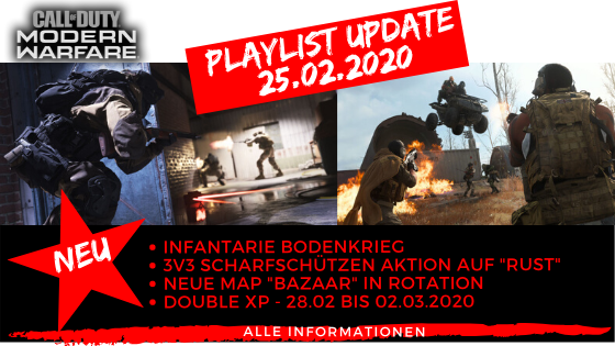 Call of Duty Modern Warfare Playlist Update 25.02.2020 - JOMIWE GAMING