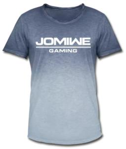 JOMIWE GAMING Team Jersey Schriftzug weiß 4 Logos