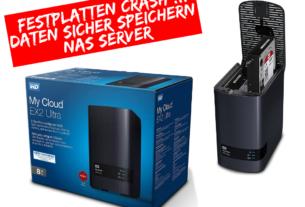 WD My Cloud EX2 Ultra - Festplatten Crash - Daten sicher speichern - NAS Server - JOMIWE GAMING
