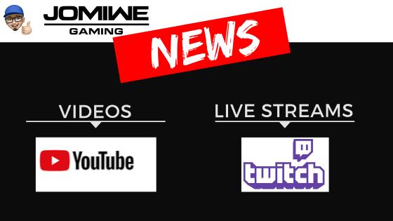 News - Videos auf YouTube - Live Streams auf twitch - JOMIWE GAMING - Wichtige Änderung: Mein Live Stream läuft ab Juni auf twitch