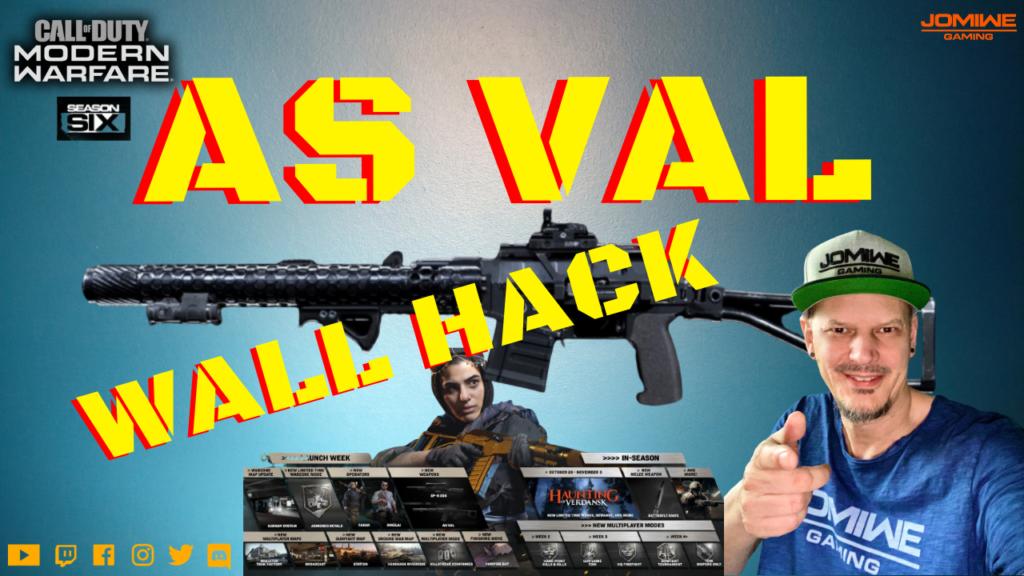 COD Modern Warfare - AS VAL Wall Hack - JOMIWE GAMING