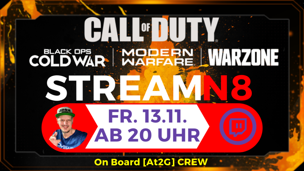 Stream Night Call of Duty Cod War Modern Warfare Warzone - STREAMN8 JOMIWE GAMING