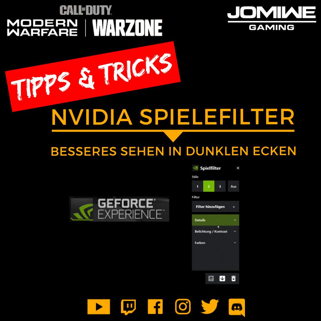 Nvidia Spielefilter - JOMIWE GAMING